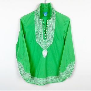 TS Dixin | Embroidered Moroccan Style Tunic Top